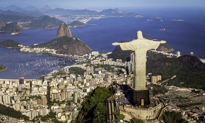 Chúa Cứu Thế nhìn về phía Vịnh Guanabara - - Vịnh đẹp nhất thế giới
