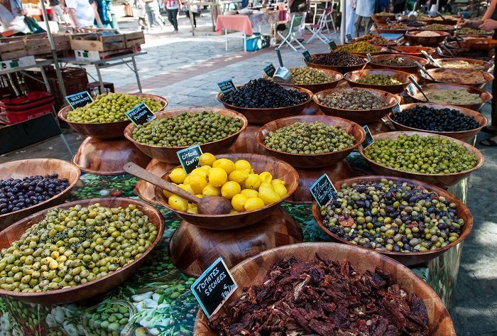 Food sold in the market - Corsica Island, France