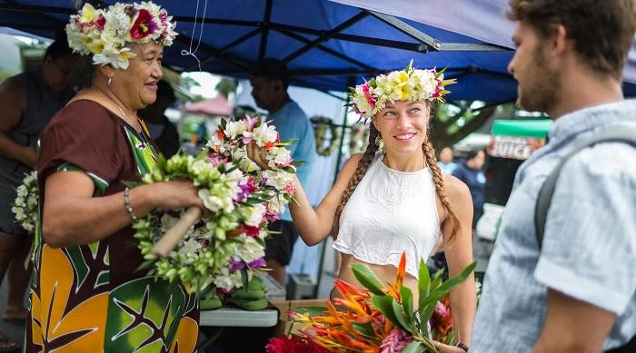 Chợ văn hóa Punanga Nui - Quần đảo Cook