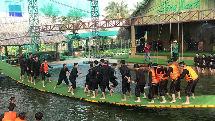 Check in khu du lịch Làng Xanh - Chơi thả ga