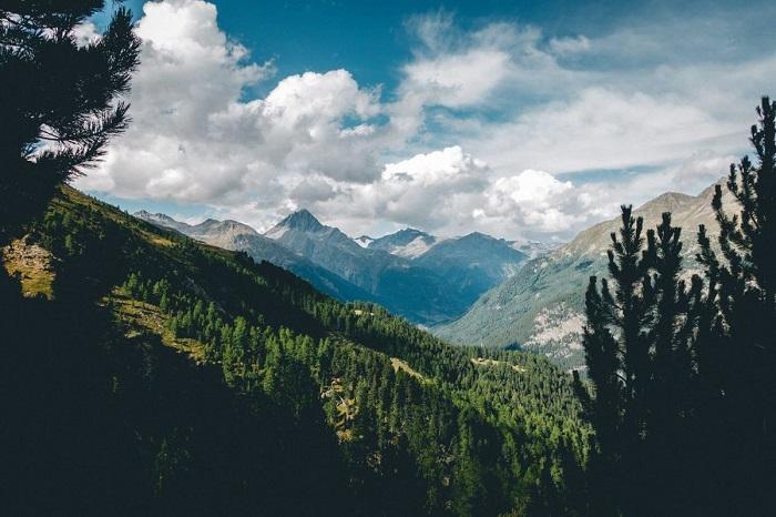 Đi lên cao hơn bạn sẽ nhìn thấy quang cảnh như thế này - Vườn quốc gia Thụy Sĩ