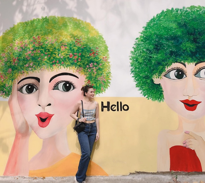 Frescoed alley - a virtual alley in Vung Tau, every photo is 'thousands of likes'