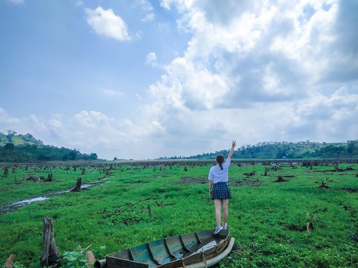 the beauty of Thuan An Volcanic Lake