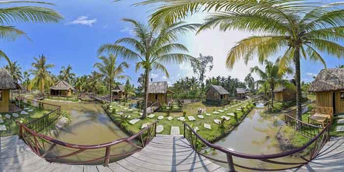 Check in khu du lịch Làng Xanh - Khung cảnh xanh mát