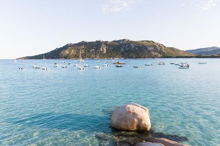 Early morning at Santa Giulia beach - Corsica Island, France