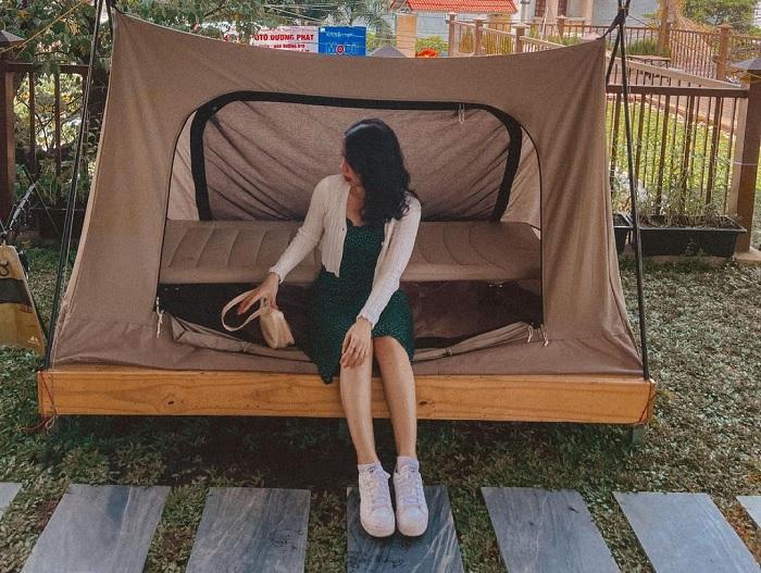 lều - chỗ nghỉ tại quán cà phê cắm trại ở Thủ Đức