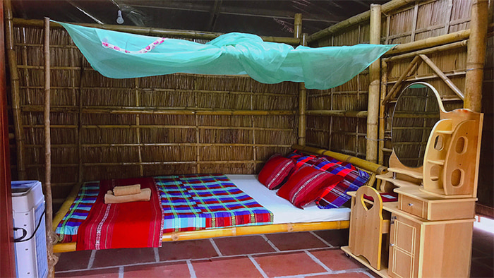 Check in khu du lịch Làng Xanh - Phòng ngủ