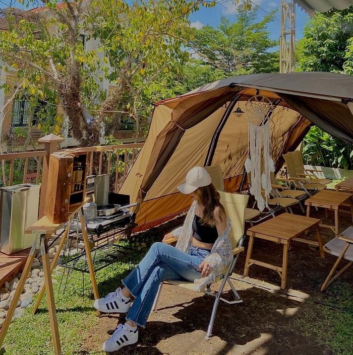 lều trại - vật dụng quan trọng ở quán cà phê cắm trại ở Thủ Đức