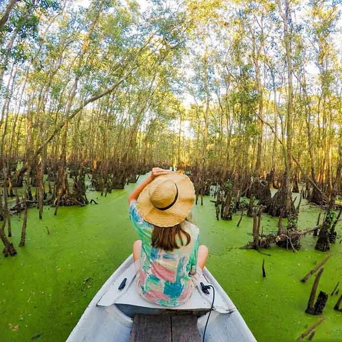 thời điểm du lịch An Giang lý tưởng - So deep tại rừng tràm