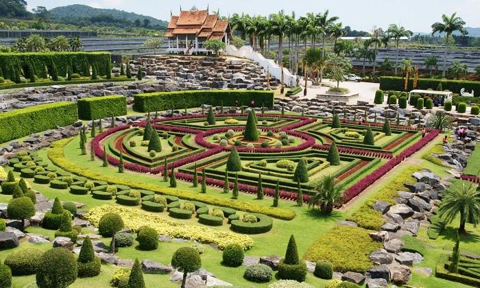 Vườn bách thảo nhiệt đới Nongnooch - vườn bách thảo đẹp nhất thế giới