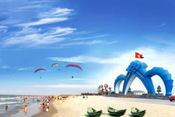 Du lịch biển Cửa Việt Quảng Trị thỏa thích tắm mát và vui chơi