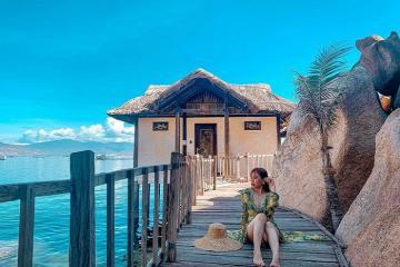 Hòa mình với thiên nhiên nơi resort Ngọc Sương nằm trên vịnh Cam Ranh