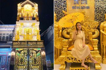 Choáng ngợp trước vẻ đẹp kiêu sa của nhà dát vàng ở Cần Thơ