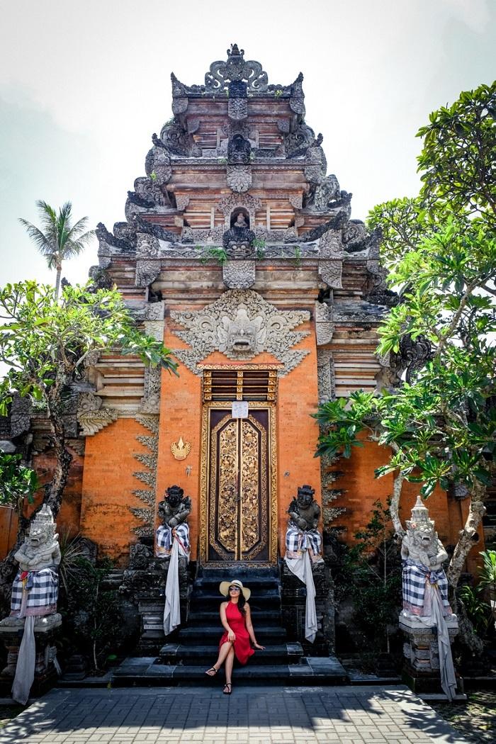 Kiến trúc độc đáo trong cung điện Ubud
