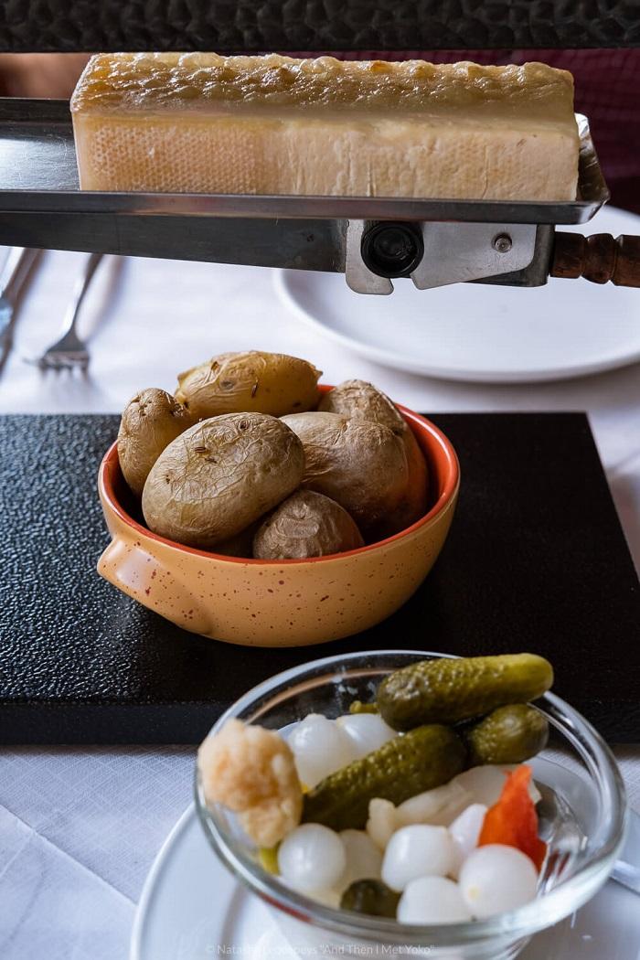 Món raclettte - Làng Wengen