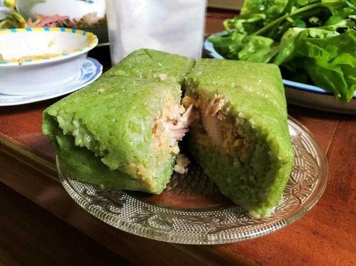 Ngon hết sảy khi thưởng thức món bánh chưng Bờ Đậu Thái Nguyên