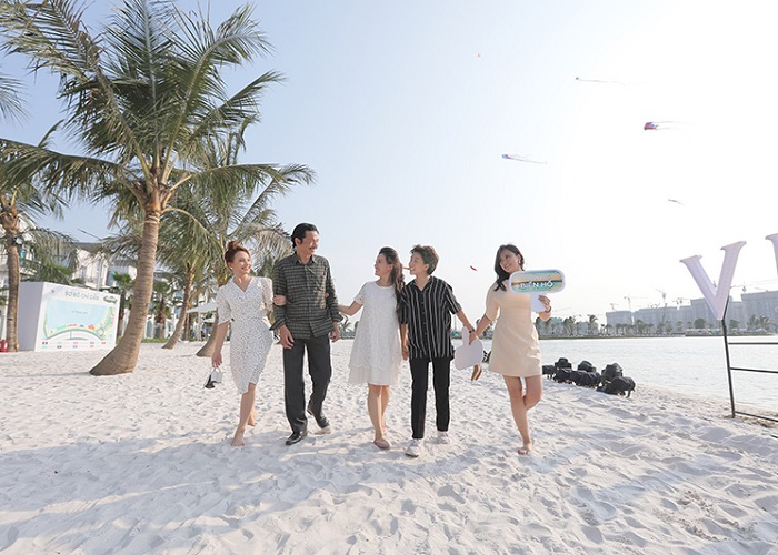 bãi biển nhân tạo ở Hà Nội