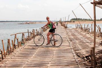 Cầu tre ở Kampong Cham - cây cầu đặc biệt nhât Đông Nam Á