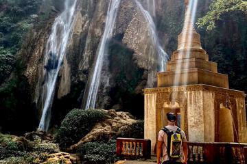 Thác nước Anisakan đẹp tựa chốn bồng lai tại Myanmar