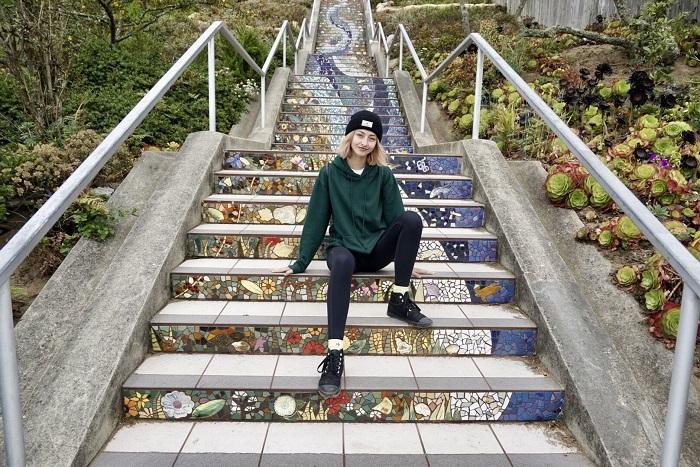 Bậc thang đại lộ 16 tại San Francisco - điểm đến với vẻ đẹp siêu thực