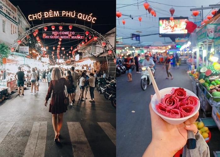 Chợ đêm Phú Quốc – thiên đường ẩm thực trên hòn đảo ngọc