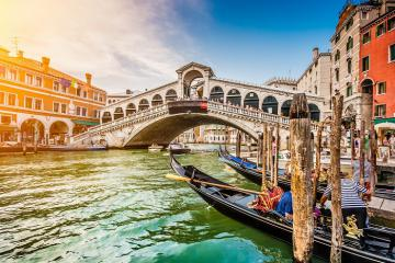Quang cảnh yên tĩnh hiếm hoi khi Venice vắng du khách