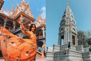 'Ngả nghiêng' trước vẻ đẹp khó cưỡng của chùa Som Rong Sóc Trăng