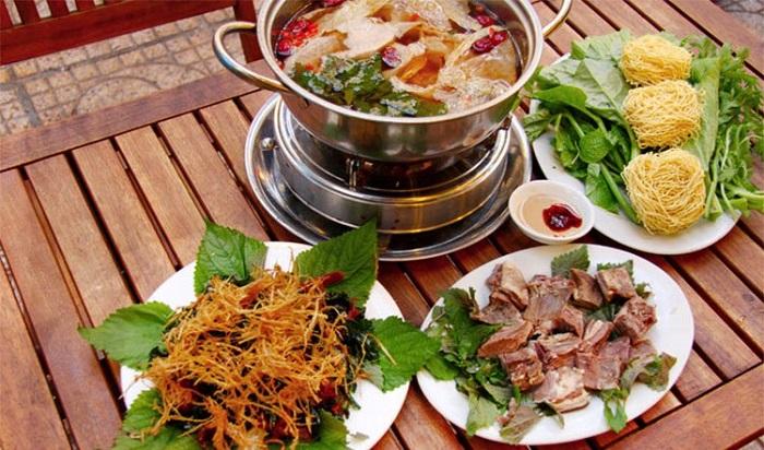 delicious restaurant in Rach Gia - Nam Ri goat hot pot