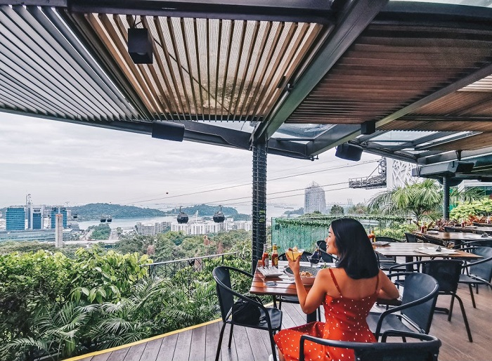 A cafe at the top of Faber Peak - Mount Faber Park Singapore