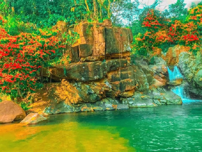 Waterfall - beautiful destination near Ta Ma stream in Binh Dinh