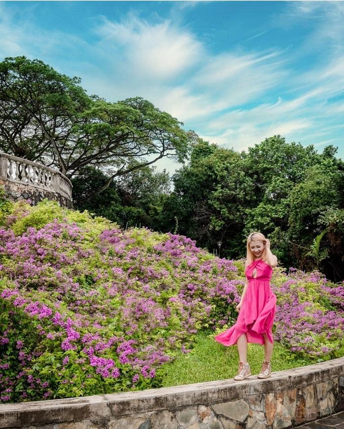Mountain flower garden in Faber Mount Park - Mount Faber Park Singapore