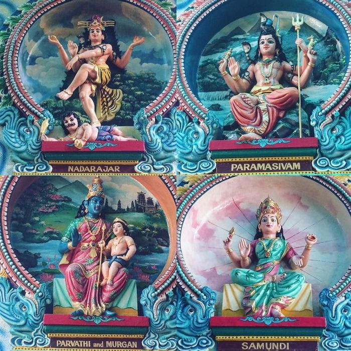 đền Mariamman Sài Gòn - tượng trong chùa