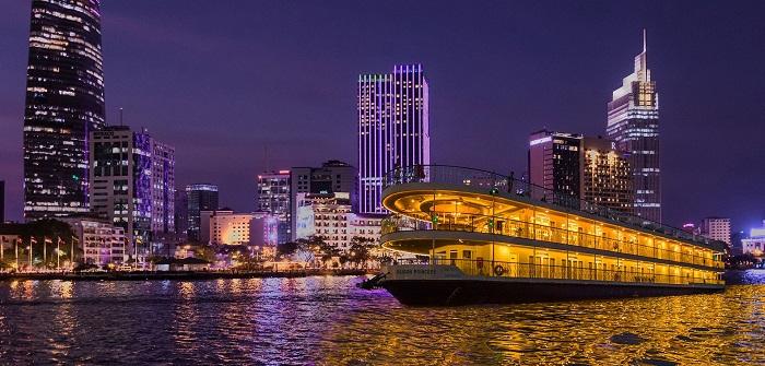 du thuyền ăn tối trên sông Sài Gòn - trải nghiệm thú vị