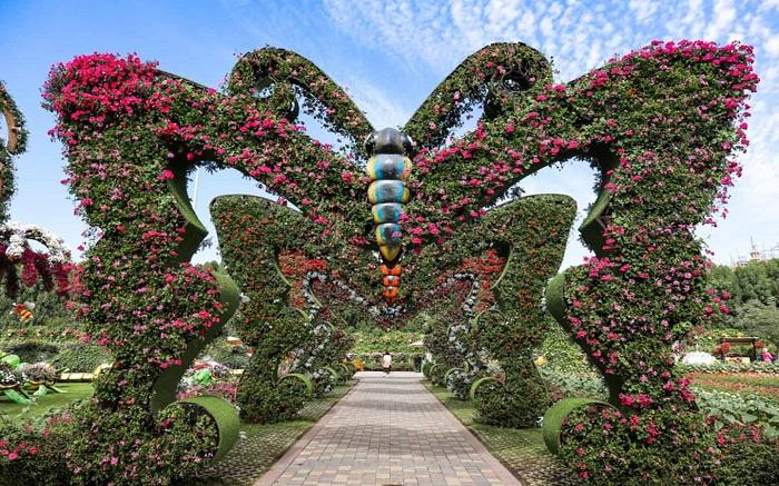 Butterfly flower gate in Dubai Butterfly Garden