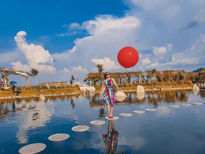 Check in khu du lịch điện mặt trời An Hảo - huyện Tịnh Biên