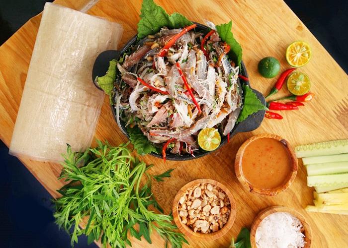 món ăn đặc sản Kiên Giang- gỏi cá trích