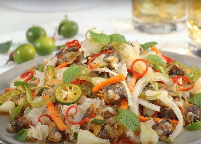 món ăn đặc sản Kiên Giang- gỏi sò lông