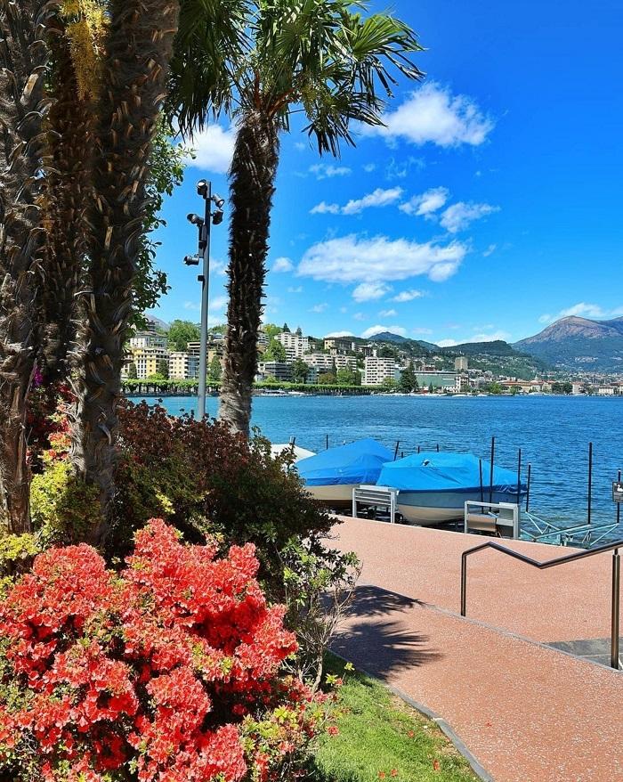 Lake Lugano in spring - When to travel to Switzerland