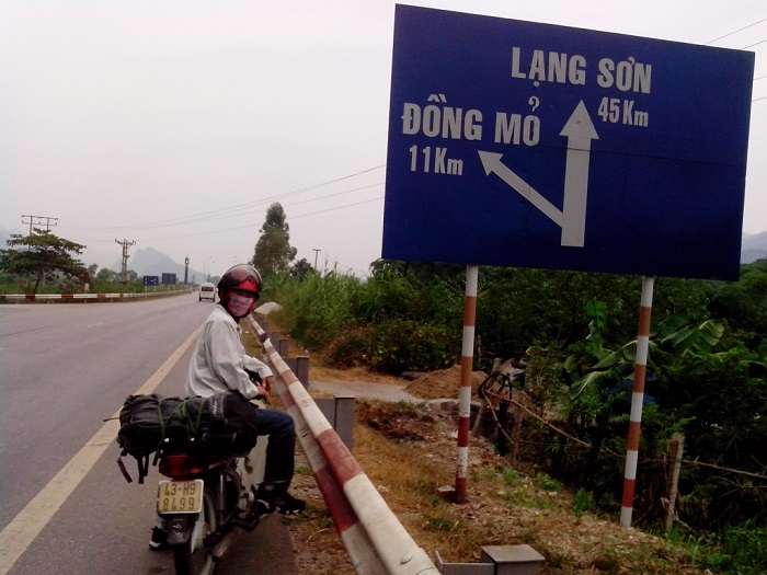 means of transportation to Lang Son - motorbike