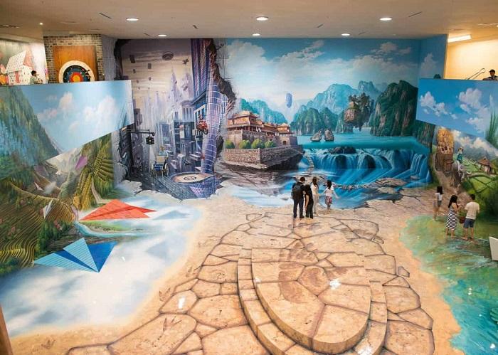 Sky Park Vivocity Sài Gòn - bảo tàng tranh