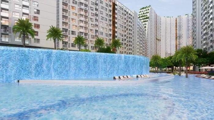 Sky Park Vivocity Sài Gòn - hồ bơi thác nước 2 tầng