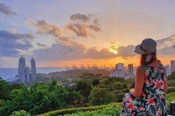 Công viên Mount Faber - khu rừng nhiệt đới trên đỉnh núi ở Singapore