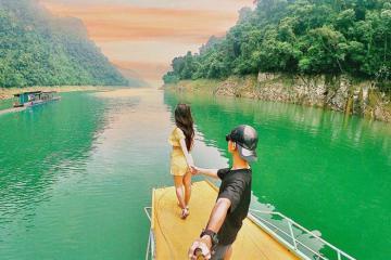 Đến Hồ Na Hang Tuyên Quang chiêm ngưỡng bức tranh thủy mặc đẹp mê hồn
