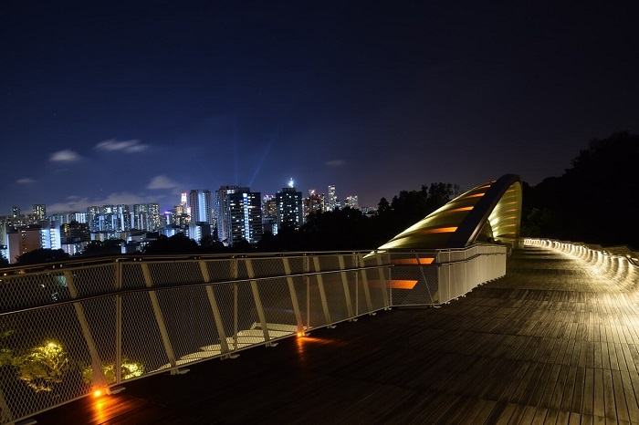 View of Singapore at night from Faber Mount - Mount Faber Park Singapore