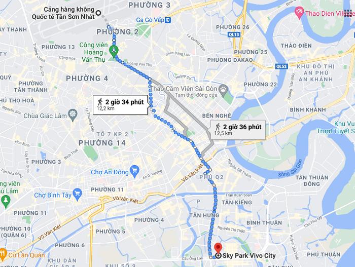 Sky Park Vivocity Sài Gòn - đi lại