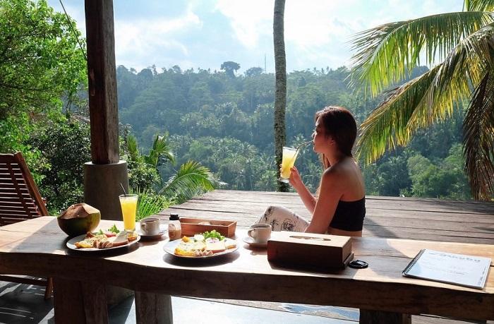 Thưởng thức bữa sáng trong khung cảnh thiên nhiên - Zen Hideaway Bali