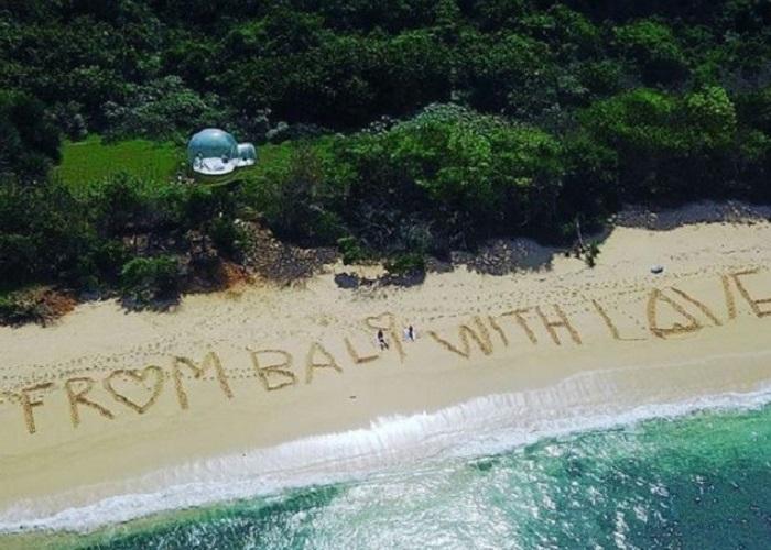 căn phòng bong bóng Bali
