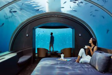 Tận mắt chiêm ngưỡng khách sạn dưới nước ở Maldives có giá 50 nghìn USD một đêm