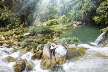 Nghiêng mình trước vẻ đẹp kỳ ảo thơ mộng của thác Bản Ba Tuyên Quang