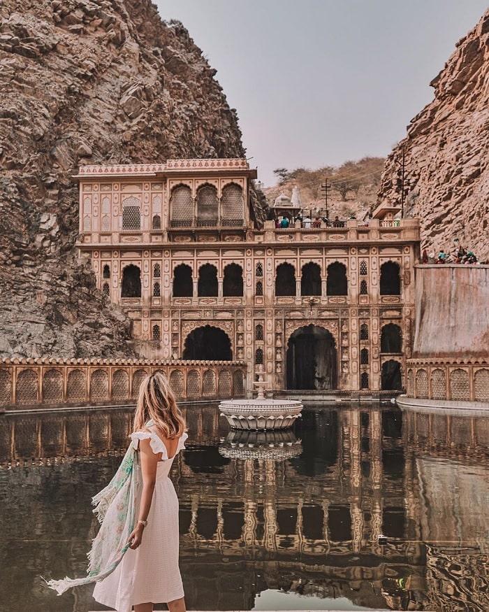 Galtaji Temple - unique 'Monkey temple' in Jaipur India